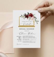 wedding photo - Virtual Bridal Shower Invitation Template Long Distance Bridal Shower Invite, Instant Download, Editable, Templett, SRF