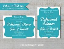 wedding photo - Rehearsal Dinner Invitation,Matches Invitation,Coordinates With Invitation,5x7 Size,Matching Paper,Printed Invitations,White Envelopes