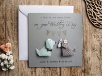 wedding photo - Personalised Wedding card /  Dog wedding cards / Handmade cards