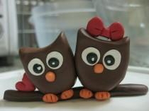 wedding photo - Love Owls Cake topper
