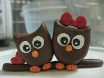 wedding photo - Love Owls Cake topper