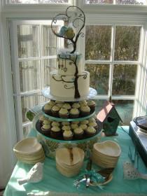 wedding photo - Wedding Cake Topper Custom made to order Ferdi Birds miniature love birds and tree