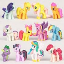 wedding photo - Preorder My Little Pony cake toppers/figurine set ASD ADHD Calming sensory focus learning toy