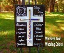 wedding photo - Cord of Three Strands, Wedding Braid Cross, Wedding Ceremony, Unity Braids Ecclesiastes 4:12, Wedding Signs, Unity Ceremony Alternative Vows