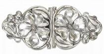 wedding photo - Magnolia Blossom Belt Buckle in Sterling Silver
