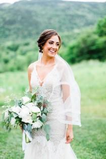 wedding photo - 1 Inch Horsehair Veil, Drop Veil, Cathedral Drop Veil, Horse Hair Edge Veil, Drop Veil, White Veil, Sheer Drop Veil