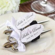 wedding photo - Fleur de Lis Flaschenöffner Brautjungfern begünstigt WJ079 #weddingfavors