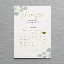 wedding photo - Eucalyptus Calendar Save the Date or Change the Date, card or magnet. Eucalyptus wedding, greenery wedding
