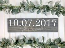 wedding photo - Save the Date Sign, Wedding Announcement Sign, Engagement Photo Prop, Rustic Wedding Decor