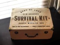 wedding photo - New Husband Survival Kit/ New Husband Gift / Wedding Gift for Him /Wedding Gift/ Husband Gift / Day of Wedding Gift for Groom