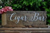 wedding photo - Cigar Bar Sign, Whiskey Bar Sign, Cognac Bar Sign, Whiskey and Cigar Bar, Man Cave Sign, Rustic Wedding Sign, Wedding Favors Sign, 15 x 5