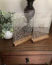 wedding photo - Engraved Vows on Acrylic
