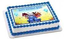 wedding photo - Little Blue Truck Birthday Image Cake Topper Edible Cake Frosting Sheet