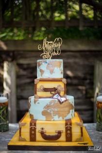 wedding photo - Wedding Cake Topper, Destination Wedding Cake Topper,  Fly Away With Me, Airplane Cake Topper, Travel Cake Topper, Destination Wedding