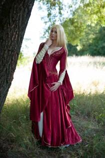 wedding photo - Fantasy Dress, Cersei gown, Elven wedding dress, Renaissance faire dress, Made to order from another fabric