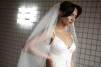 wedding photo - Two-tier Glitter veil, sparkle bridal veil, long shimmer wedding veil