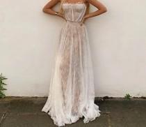 wedding photo - White Lace Summer Maxi Dress