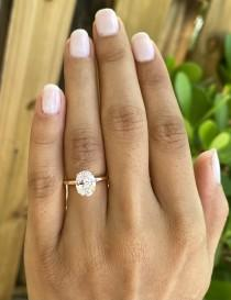 wedding photo - Rose Gold Oval Engagement Ring. 2 Ct Solitaire Ring. Anniversary Ring. Promise Ring Oval Wedding Ring. Classic 2 Ct Rose Gold Solitaire Ring