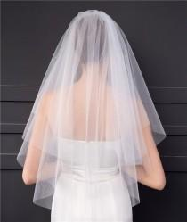 wedding photo - Single Tier Blusher Veil Soft Tulle