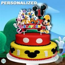 wedding photo - MICKEY MOUSE CLUBHOUSE Cake Topper, Mickey Mouse 1st Birthday Cake Topper, Mickey Mouse Centerpiece, Cake Decoration, Mickey Mouse Clubhouse