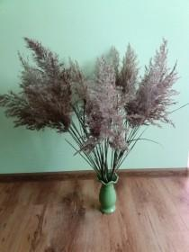 wedding photo - Large wild grass bouquet natural dried grass pampas grass rustic wedding vase filler decor woodland Dry Reed Cane grass Feather grass dried