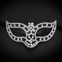wedding photo - The Crystal Bridal Collection - Royal Masquerade Wedding - Fine Jewelry Masquerade Masks Fully Covered with Genuine Crystals by 4everstore