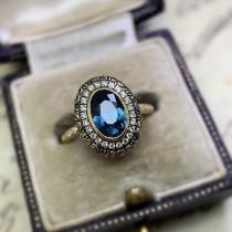 "wedding photo - CvB ""Spring Gulch"" Diamond & Carved Floral Halo Setting"