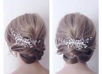 wedding photo - Bridal hair piece,wedding hair piece,Bridal headpiece,bridal hair comb, wedding hair comb,Pearl Hair Vine, Wedding headpiece,bridal hairclip