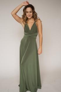 wedding photo - Olive green bridesmaid dress, green dress, bridesmaids, olive green dress, long green dress, green bridesmaid dress, olive green bridesmaids