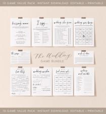 wedding photo - Wedding Table Games Bundle, INSTANT DOWNLOAD, Value Game Bundle, Discount Game Bundle, Games for Wedding Table, Reception Games - PEO051