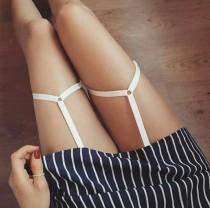 wedding photo - Mya White Strap Suspenders • LoveSarah Lingerie
