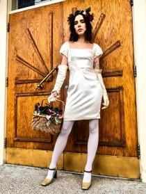wedding photo - Ivory Silk Mini Dress- Zac Posen