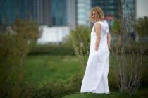 wedding photo - White Linen Dress, Linen Maxi Dress, Summer Linen Dress, Hooded Dress, Plus Size Maxi Dress, Linen Kaftan, Boho Linen Dress, Linen Clothing