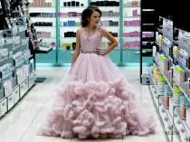 wedding photo - Blush Pink Tulle Flower Girl Dress, Rhinestone decorated belt, Communion dress, Lace Flower Girl Dress , Birthday Girl Dress, Tutu Dress