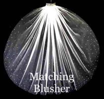 wedding photo - matching blusher to veil, scattered crystal blusher, crystal wedding veil, crystal blusher, scattered crystal veil, crystal veil