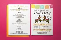 """wedding photo - INSTANT DOWNLOAD! 5x7"""" Final Fiesta Mexico Bachelorette Party Downloadable Printable Bridal shower Invitation Itinerary Template!"""