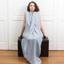 wedding photo - Linen Womens Clothing BELLE / Beach Linen Dress / Asymmetrical Linen Dress / Linen Maxi Dress