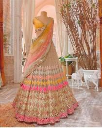 wedding photo - Multi Colored Butterfly Net Foil Mirror Work Lehenga Choli recaption lehenga bridesmaids lehenga custom lehenga sangeet wear mahendi wear