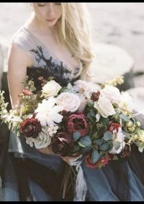 wedding photo - Silk Wedding Bouquet,Boho Bouquet, Rose Bouquet, Garden fresh Bouquet, Brides Bouquet, Wedding Bouquet, Bride Maid Bouquet