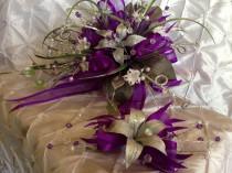 wedding photo - Purple wedding bouquet / Ramo de quince./
