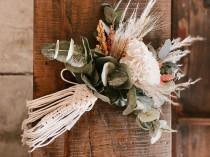 wedding photo - Macrame Bouquet Wrap, wedding bouquet macrame wrap, bridal bouquet wrap, boho bride, boho wedding