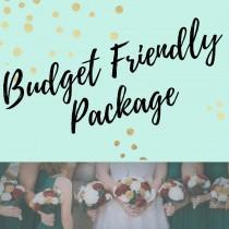 wedding photo - Budget Friendly Semi Custom Wood Flower Bouquet Package - Wood Flower - Wood Flowers Bouquet