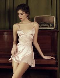 wedding photo - Silk Nightdress- Vintage silk Slip-Bridal Nightgown-Women Nightdress-Sexy Lingerie Dress-Silk Chemise -Chemise Nightgown-Erotic Nightdress