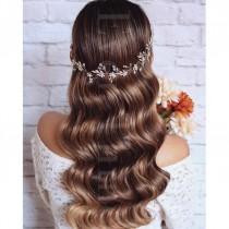 wedding photo - FREE SHIPPING -  Orla Floral Bridal Hair Vine - Crystal and Pearl Wedding Hair Adornment, Wedding Flowers, Bridal Hair Accessories