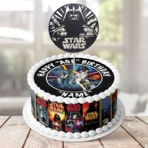 wedding photo - 7.5' Diameter Complete Edible Icing Cake Decoration, Topper, Wrapper or Glitter Topper - Starwars