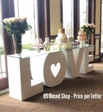 "wedding photo - Foam Letters - Personalized, Standing, Thick Foam Letters - 30"" Tall  & 12"" Thick -  Foam Styrofoam Table Letters"