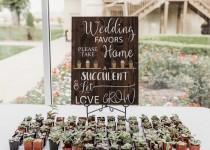 wedding photo - Let Love Grow sign + Take A Succulent + Wedding Decor + Wedding Favor Sign + Farmhouse Wedding + Barn Wedding + Rustic Wedding Decor