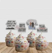 wedding photo - Grey's Anatomy Cupcake Toppers