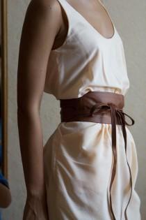 "wedding photo - New VIKTOR SABO Exclusive Canadian Handmade Obi Kafeta Lambskin For Waistline Up To 36""/91.4 cm XL+"