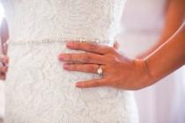 wedding photo - Thin Bridal Belt Sash Rhinestone Belt Sash Flower Girl Bridesmaid Gift Sash belt Crystal Dress Sash Belt Flower girl Baby Sash Belt